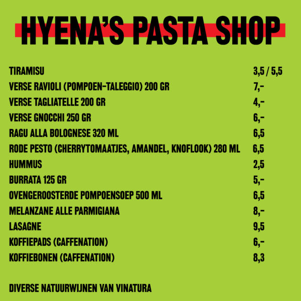 Hyenas Pasta Shop 222